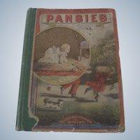 """Old Victorian Children's Book """"Pansies"""""""