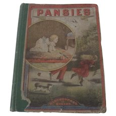 "Old Victorian Children's Book ""Pansies"""