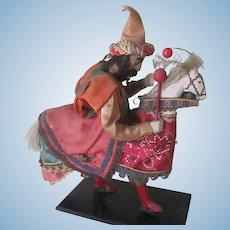 Vintage Polish Folk Doll with Horse c1940's