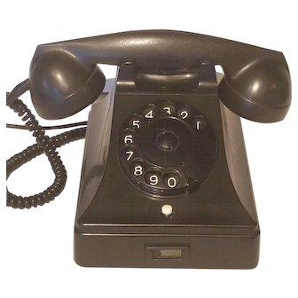 "Vintage 1960's  Black Phone Holland ""Standard PTT"""