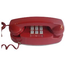 1970's  Red Princess Phone Western Electric 2702BM