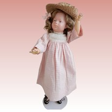 Rare 14.5 Inch Somber German Character Doll