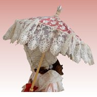 Lace and Silk Parasol for Bebe'