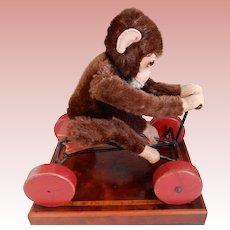 Steiff Peter Monkey on Wheels