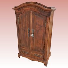 19.5 Inch Miniature Wood Armoire for Bebe'