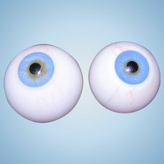 Antique Rare 26-28MM Glass blown Human eyes for Mannequin.
