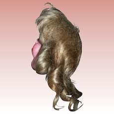 """7 1/2"""" Circumference Lt Brown Mohair wig"""
