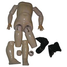 """14"""" Composition Body German with shoes & socks"""