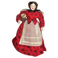 "8"" Aunt Susan; Hand carved Artist doll Johanna Chavre, 1954"