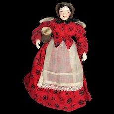 "8"" Aunt Susan; Hand carved Artist doll Johanna Chavre, 1954"