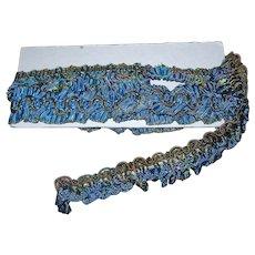 Antique Blue Metallic trim; 3 pieces