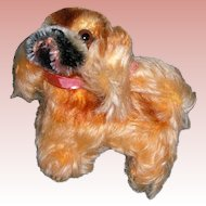 """Steiff Peky, Super clean , tagged with Button 4"""" long by 41/2"""" tall"""