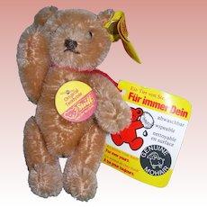 """Steiff 4 1/2"""" Tall Mohair Original Teddy Bear"""