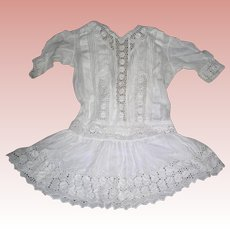 Antique Cotton Dress for Bisque dolls in Flapper era style