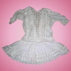 Antique Cotton Dress for Bisque dolls in Flapper era style