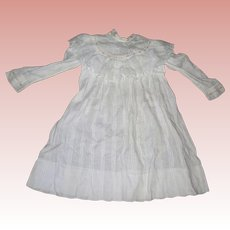 Darling Cotton Yoke Dress for bisque dolls Kate Greenway style