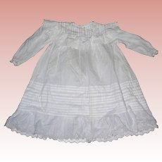 Antique Cotton Eyelet Lace Kate Greenway style Dress for Bisque dolls