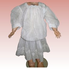Darling Antique Late Victorian Dress Drop waist batiste cotton