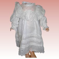 Antique Cotton Lace Dress Kate Greenway style