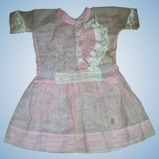 Factory Made Original Pink Cotton Dress..Just darling in its styling