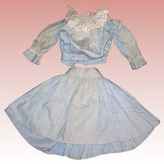 Antique Pale Blue two piece Lady's Outfit