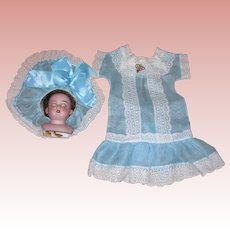 Organdy Dress and Hat for dolls