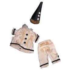 Antique Silk Mignonette Clown outfit TLC