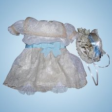 Lace dress and Bonnet for dolls