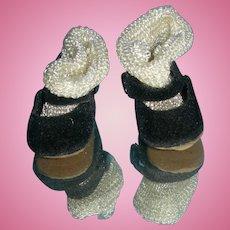 Vintage Madame Alexander shoes & socks; velvet bottoms