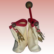 Vintage Mary Hartline Boots and Baton