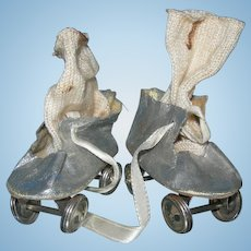 Vintage Silver Skates with Cotton socks