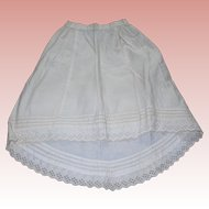 Gorgeous Cotton Petticoat for French fashion Lady Bisque dolls Tuck work!