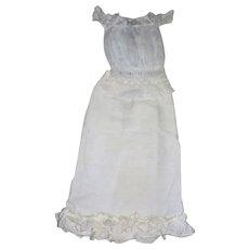 Lady doll Chemise( gorgeous lace details) & Linen Skirt