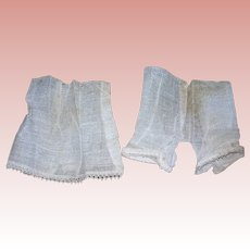 Antique Dolly's Gauze store made undies: petticoat and bloomers