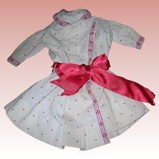 Vintage cream & Red Dress jacket for dolls Schoenhut style
