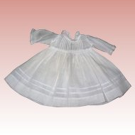 Thee Most darling Small Batiste dress for Bisque Dolls...Tuck work!