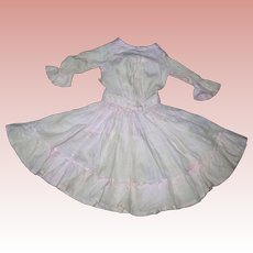Pink Cotton Batiste Antique dress for Bisque dolls