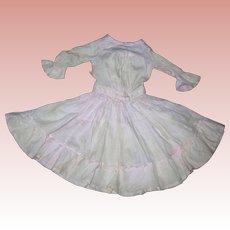 Pink Cotton Batiste dress for Bisque dolls