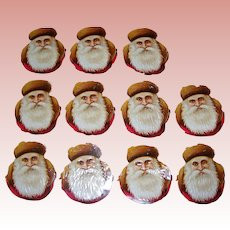 One sheet of 11 Santa Heads from Germany