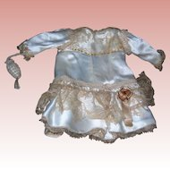 """French style Creamy gold Dress for 14"""" french doll body"""