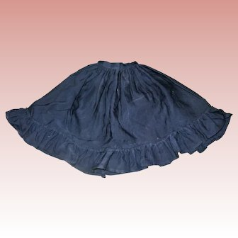 Antique Black cotton skirt for Lady doll