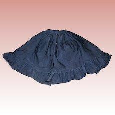 Lovely Civil War Type Black cotton skirt for Lady doll