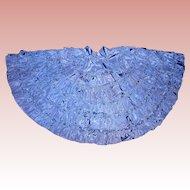 Vintage Periwinkle Blue satin round skirt for Boudior dolls
