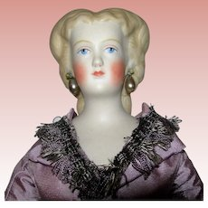 """Rare Unusual Hair Styling Parian; Butterfly Hair Style 13 3/4"""" tall Just beautiful"""