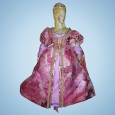 """Very Beautiful Medieval style Dress for 16"""" parian or china doll"""