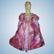 "Very Beautiful Medieval style Dress for 16"" parian or china doll"