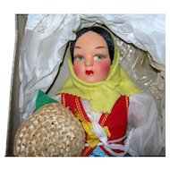 "12"" Eros Florence Italy Doll MIB Bright colors Osilo"