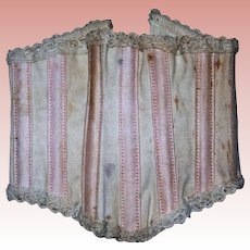 Antique Corset Beige color for China or Parian Lady Boning