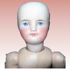 """7 1/2"""" Sonneberg Belton type German Bisque Doll"""