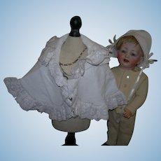 Gorgeous Pique Bonnet & cape for French Dolls